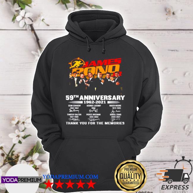 The james bond jr 59th anniversary 1962 2021 signatures thank s hoodie