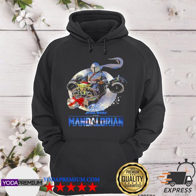 The mandalorian Star wars baby Yoda wear hat santa s hoodie