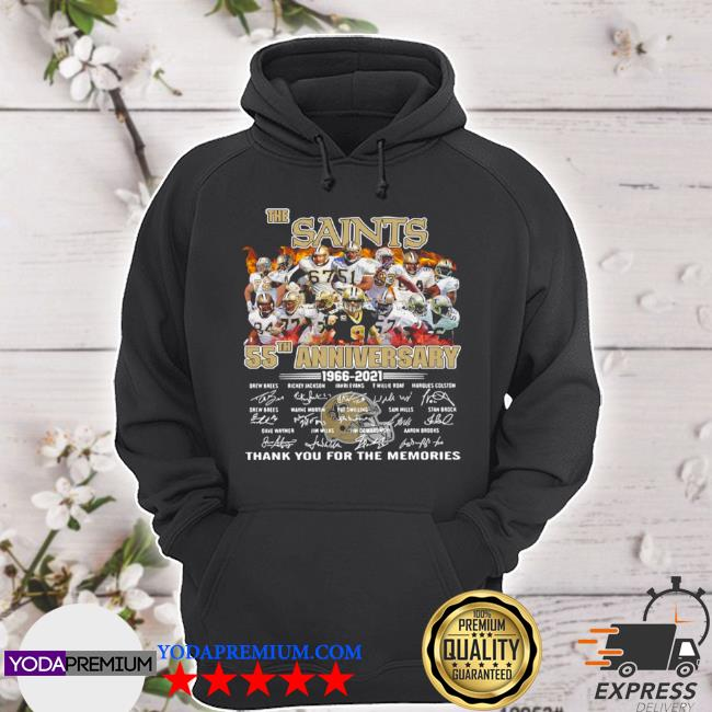 The new orland saints 55th anniversary 1966 2021 thank you for the memories signatures s hoodie