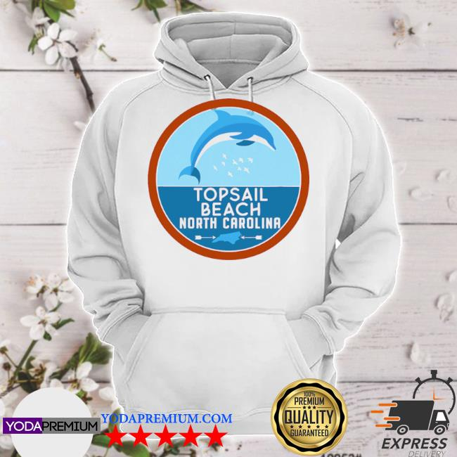 Topsail beach north carolina nc dolphin lover s hoodie