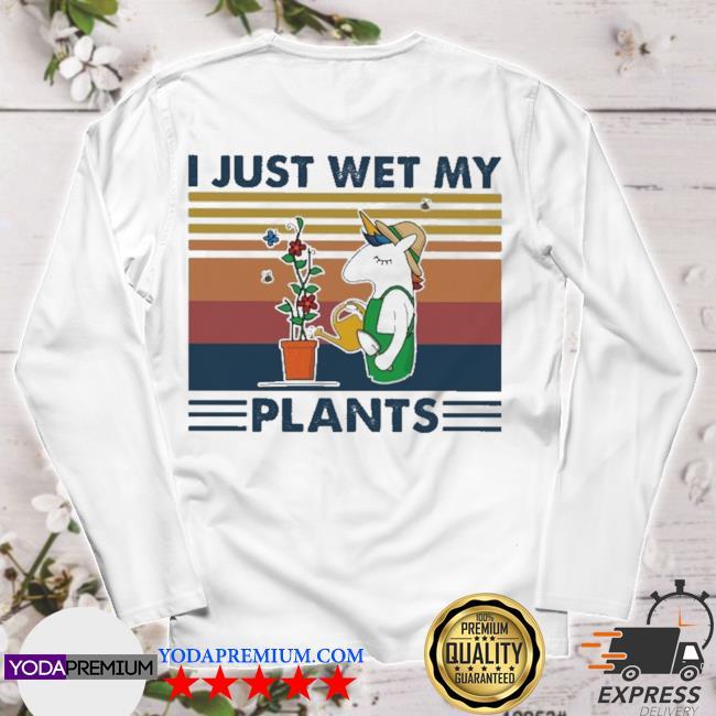 Unicorn I just wet my Plants vintage s longsleeve