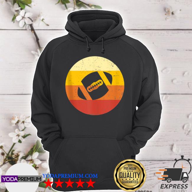 Vintage sunset football watching player fan s hoodie