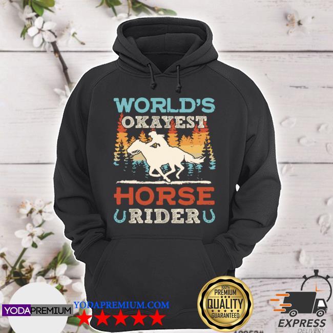 World's okayest horse rider vintage retro s hoodie